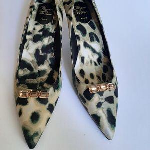Roger Vivier Satin Jacquard Shoes